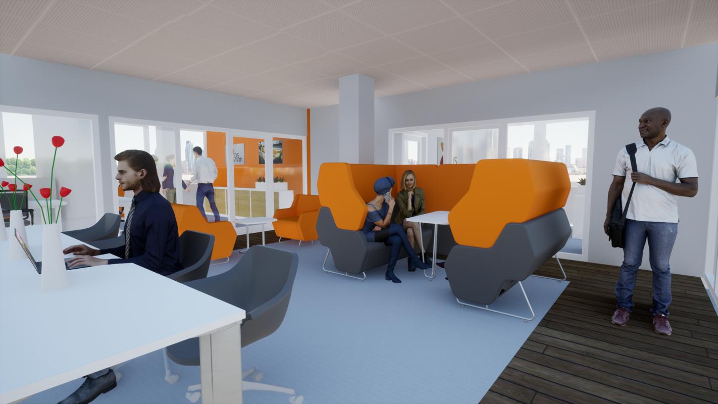 Umbau und Neustrukturierung der Büroetagen 4